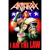 Anthrax - I Am The Law Textile Poster