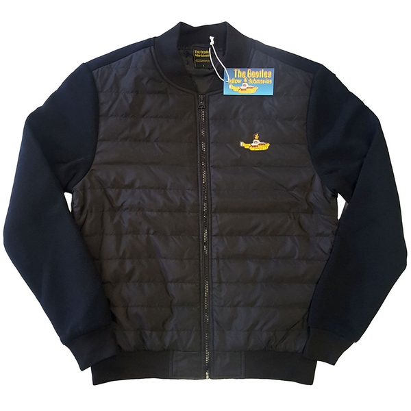 The Beatles - Yellow Submarine Unisex Small Quilted Jacket - Black