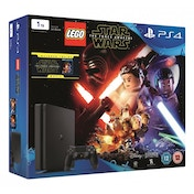 PlayStation 4 Slim (1TB) Black Console + LEGO Star Wars: The Force Awakens Game + Blu-Ray Movie