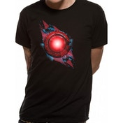 Justice League Movie - Cyborg Symbol Men's Medium T-Shirt - Black