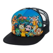 Pokemon Character Group Trucker Snapback Multicoloured Baseball Cap