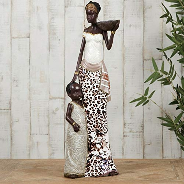 Maasai Mother & Child Figurine 41cm