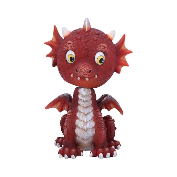 Bobflame Red Dragon Bobble Head Figurine