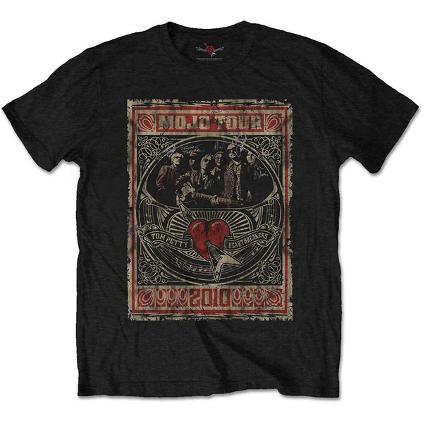 Tom Petty & The Heartbreakers - Mojo Tour Unisex X-Large T-Shirt - Black
