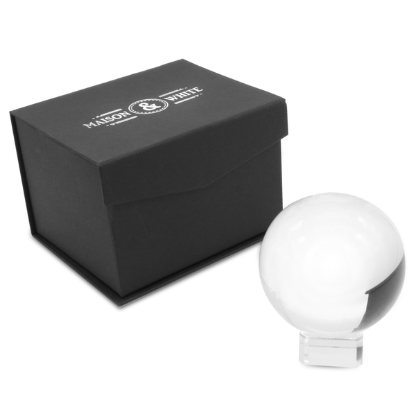 80mm K9 Crystal Lens Ball & Stand | M&W - Image 8