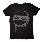 Fallout 4 Nuka Cola Bottle Cap X-Large T-Shirt (Black)