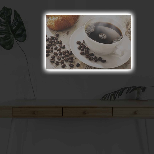 4570KDACT-001 Multicolor Decorative Led Lighted Canvas Painting