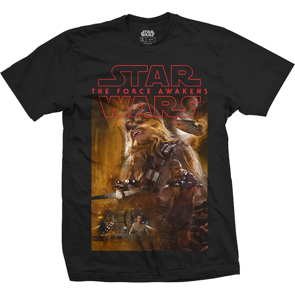 Star Wars - Episode VII Chewbacca Composition Unisex XX-Large T-Shirt - Black
