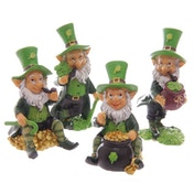 Mini Leprechaun (Pack Of 4) Figurines