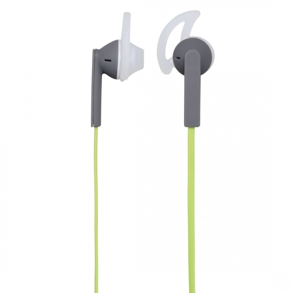 Joy Sport Stereo Earphones Green/Grey