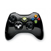 Ex-Display Official Microsoft Black Chrome Wireless Controller Xbox 360 Used - Like New