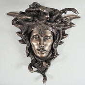 Medusa Guardian Cold Cast Bronze Wall Plaque