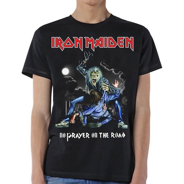 Iron Maiden - No Prayer On The Road Unisex Large T-Shirt - Black