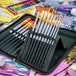 15 Piece Artists Paint Brush Set & Case | Pukkr - Image 6