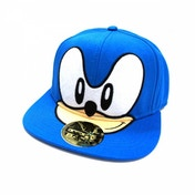 Sega Sonic the Hedgehog Big Face Snapback Baseball Cap - Blue