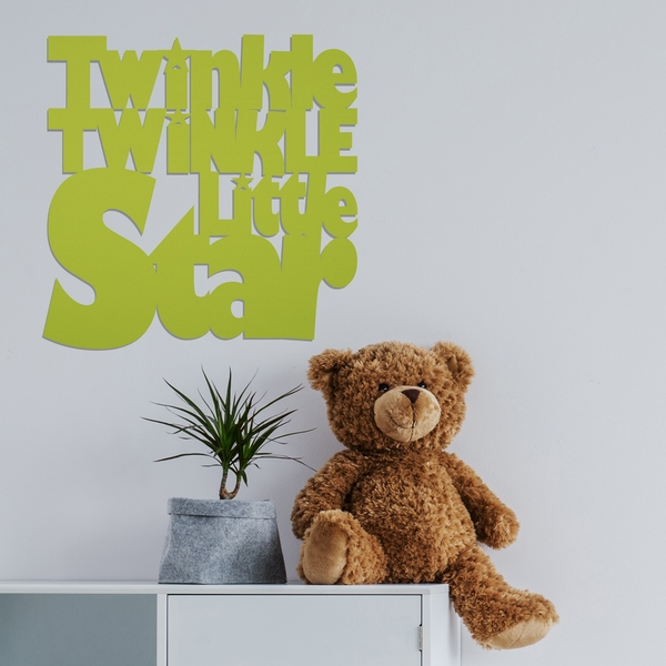 Twinkle - Green Green Decorative Wooden Wall Accessory