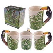 Jungle Mug with Toucan Shaped Handle