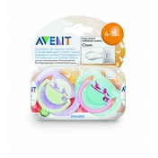 Avent: Silicone Soother Fashion 6-18M Animal