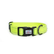 Long Paws Urban Trek Reflective Collar Medium Neon Yellow