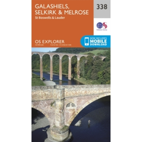 Galashiels, Selkirk and Melrose by Ordnance Survey (Sheet map, folded, 2015)