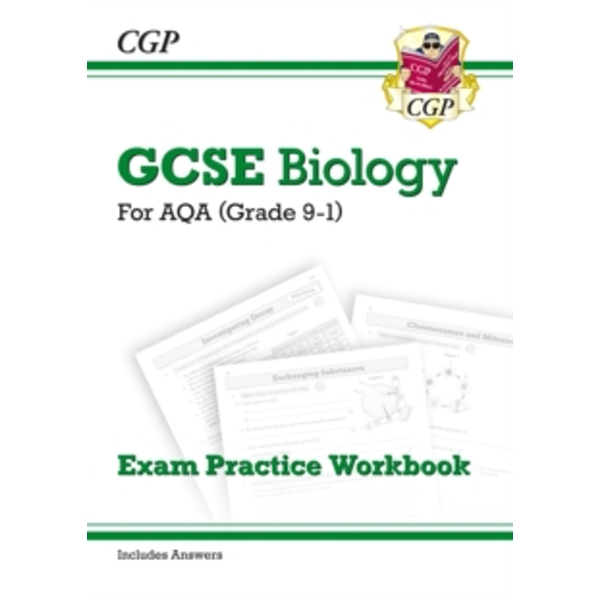 New Grade 9-1 GCSE Biology: AQA Exam Practice Workbook (with Answers) by CGP Books (Paperback, 2016)