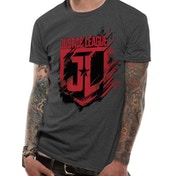 Justice League Movie - Shield Men's Large T-Shirt - Grey