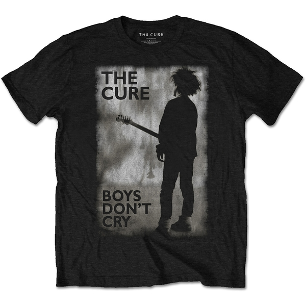 Cure - The - Boys Don't Cry Black & White Unisex Small T-Shirt - Black
