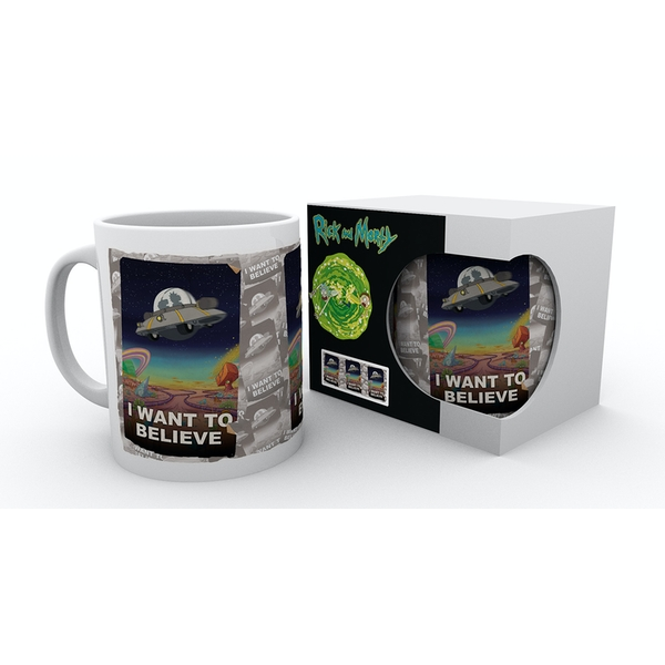 Rick and Morty I Want to Believe Mug