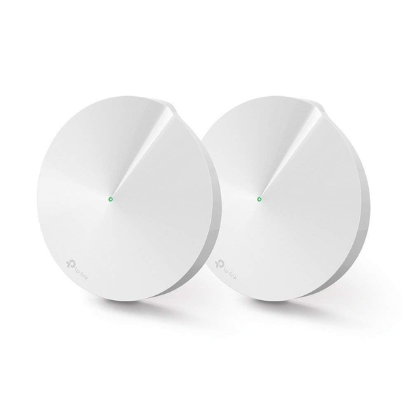 TP-LINK (DECO M5) Whole-Home Mesh Wi-Fi System, 2 Pack, Dual Band AC1300, MU-MIMO, USB Type-C, 2 x LAN on each Unit UK Plug