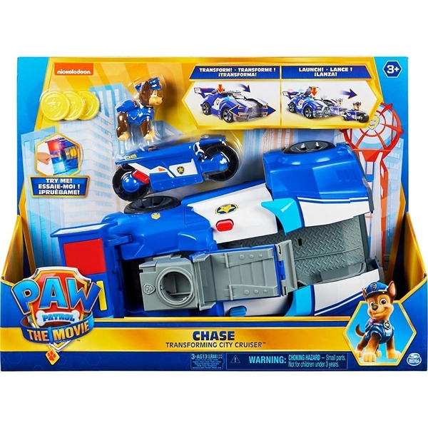 Paw Patrol Movie Chase Deluxe Transforming Vehicle