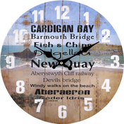 Cardigan Bay Theme Wall Clock
