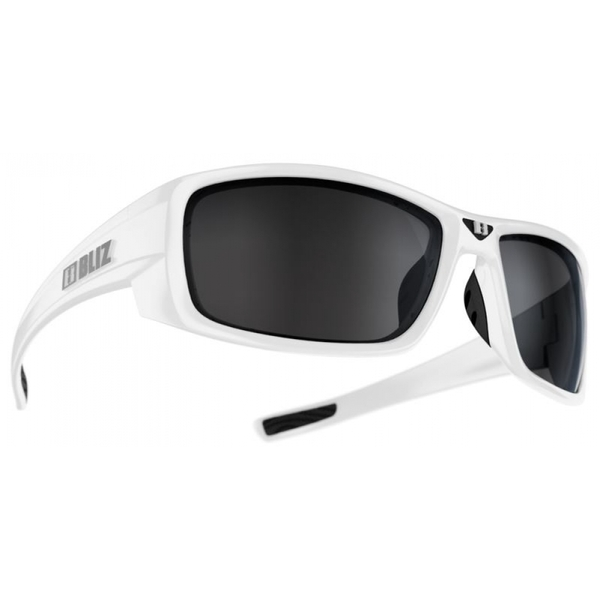 Bliz Rider White Smoke w Silver Mirror Sunglasses