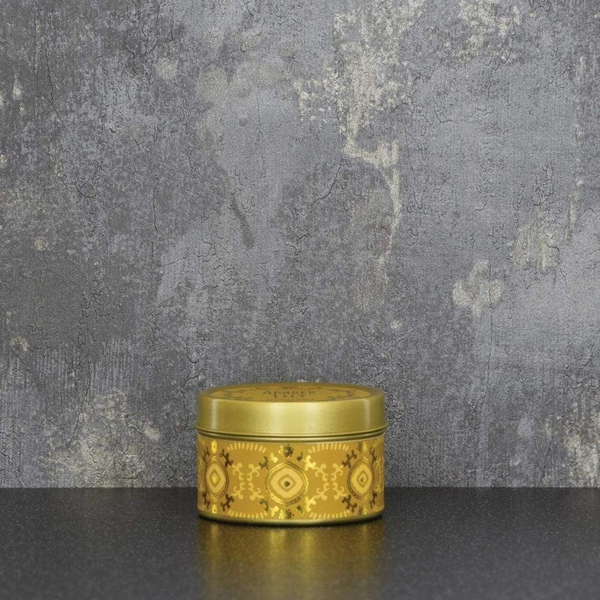 Candlelight Bohemian Small Tin Candle Amber Lily Scent