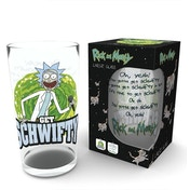 Rick and Morty Get Schwifty Large Glass