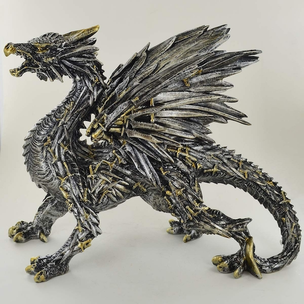 Sword Dragon Sculpture 22.5cm