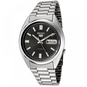 Seiko SNXS79K Seiko 5 Mens Automatic Watch Silver with Black Face