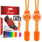 Proworks No Tie Reflective Shoe Laces - Orange