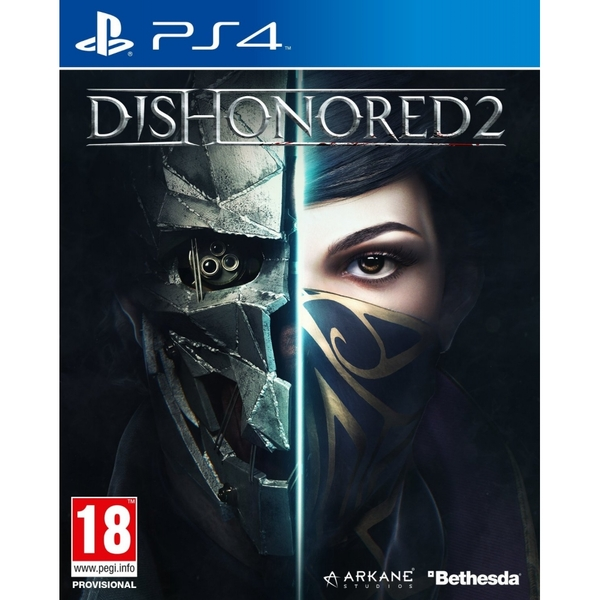 Dishonored 2 PS4 Game (Imperial Assassin's DLC) + T-Shirt