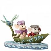 Ex-Display To The Rescue Bernard & Bianca 40th Anniversary Piece (The Rescuers) Disney Traditions Figurine Used - Like New