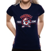 Looney Tunes - Anti-football Women's X-Large T-Shirt - Blue
