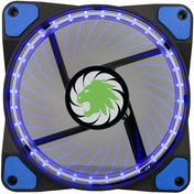 Game Max Vortex Blue Ring & 32 LED 12cm Cooling Fan With Hydraulic Bearings