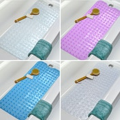 Non-Slip Extra Long Bath Shower Mat | M&W Blue