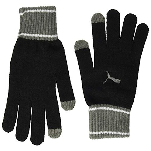 Puma Knit Gloves (Pair) Medium/Large Black/Grey