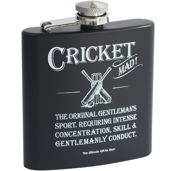 Ultimate Gift for Man Hip Flask Cricket