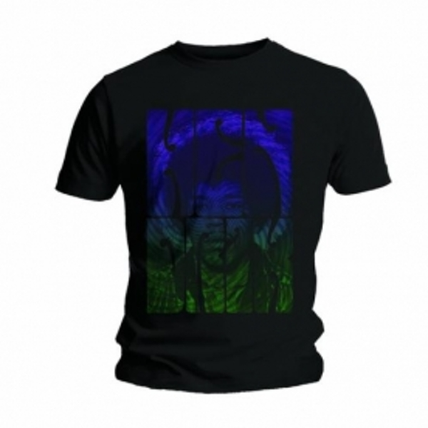 Jimi Hendrix Swirly Text Mens Black T Shirt: Small