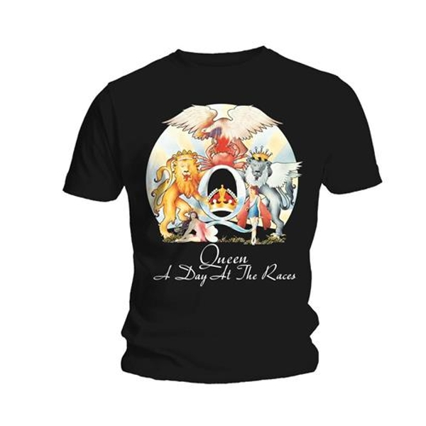 Queen - A Day At The Races Unisex X-Large T-Shirt - Black