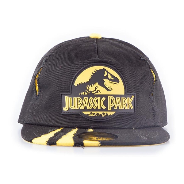 Universal - Rubber Logo Patch With Ripped Effect Unisex Baseball Cap - Black/Yellow