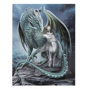 Protector of Magick Small Canvas Plaque by Lisa Parker