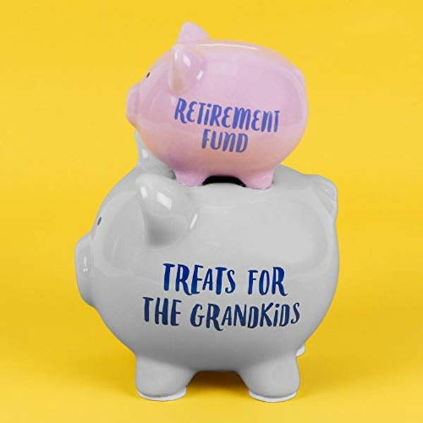 Image of 'Pennies & Dreams' Double Piggy Bank - Retirement Fund