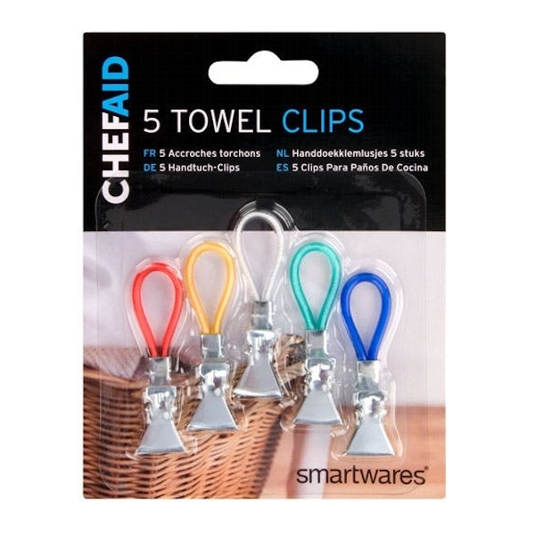 Chef Aid Towel Clips 5 Pack